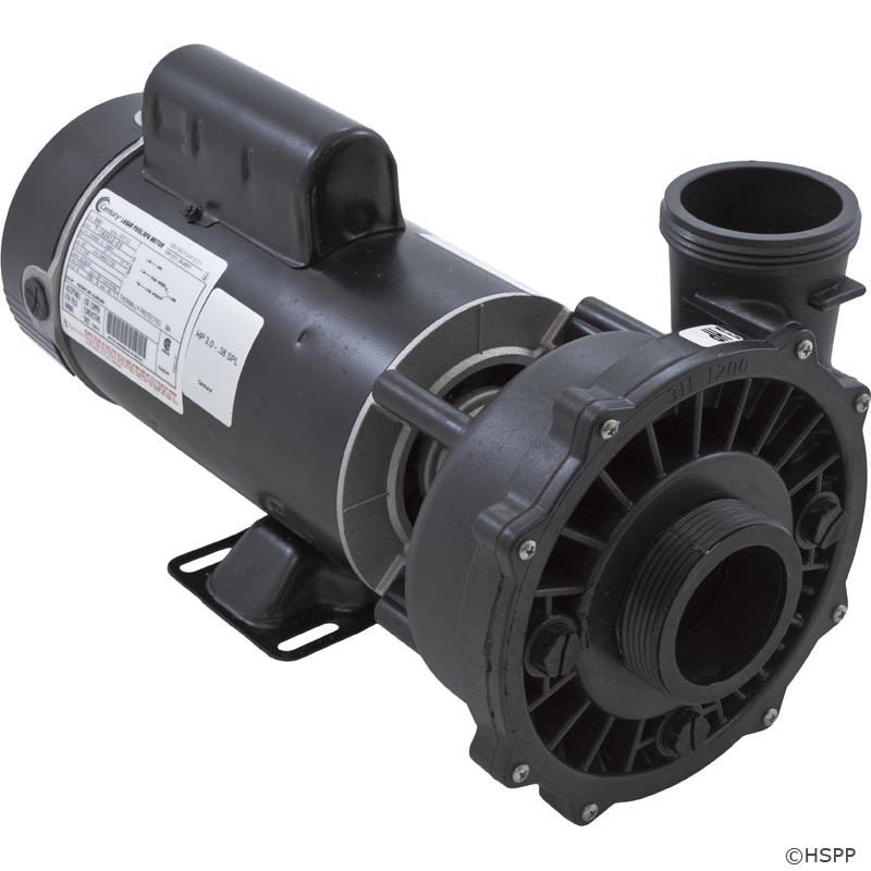 Waterway executive 3 hp 2 speed 48 frame 230 volt pump for Ao smith 1 5 hp pool pump motor