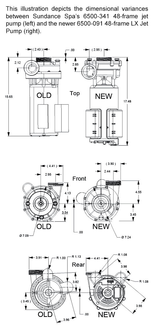 6500-091 Oem Lx Spa Pump
