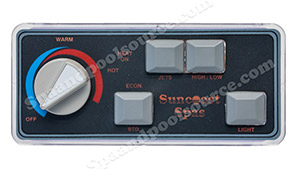 Sundance Spa Side Control, 1991 Suncoast and 1996-1998 Suntub